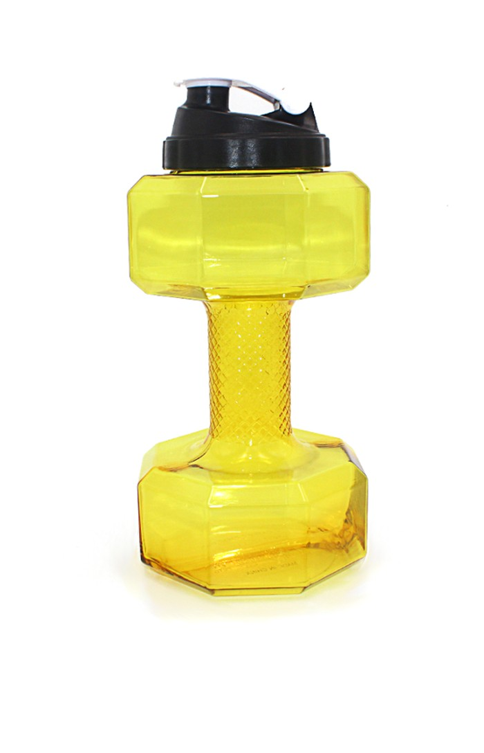 YELLOW FIT LYF™ GYM LIFTER - 2.5L DUMBBELLS GYM BOTTLE