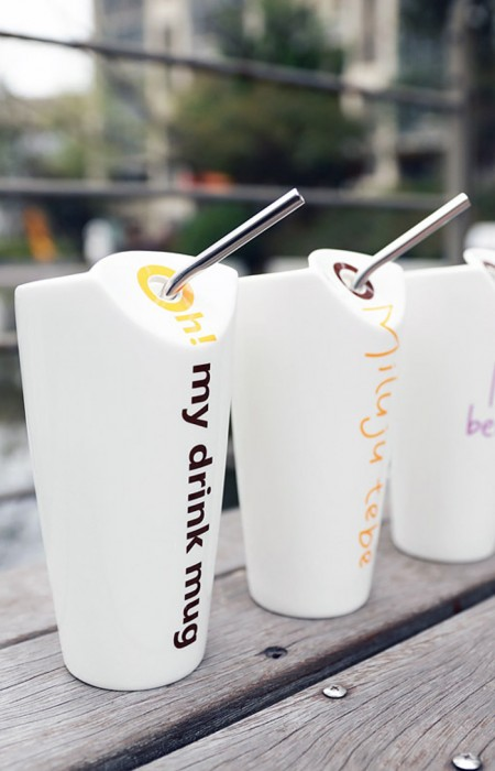 MOIOLLEN™ SUMMER VIBES - PORCELAIN STRAW CUP