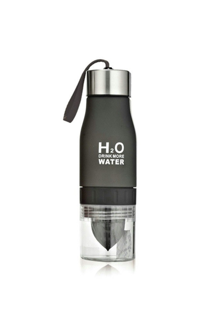 BLACK H2O™ INFUSION - FRUIT INFUSER WATER BOTTLE