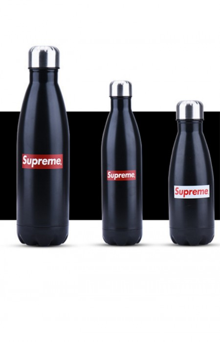 SUPREME™ FORCEFUL - STAINLESS STEEL WATER BOTTLE BLACK ALL FORMAT
