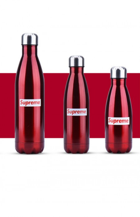 SUPREME™ FORCEFUL - STAINLESS STEEL WATER BOTTLE RED ALL FORMAT