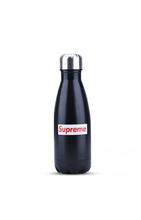 SUPREME™ FORCEFUL - STAINLESS STEEL WATER BOTTLE BLACK 350 ML