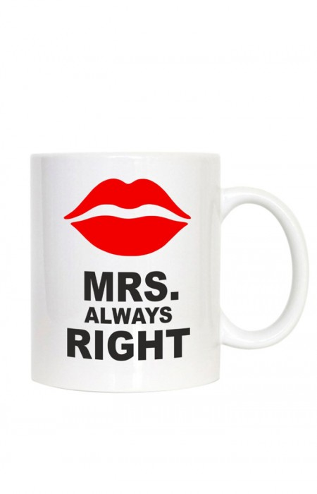 MUGS & CUPS™ MR & MRS ALWAYS RIGHT - TASSE À CAFÉ EN CÉRAMIQUE MRS. ALWAYS RIGHT