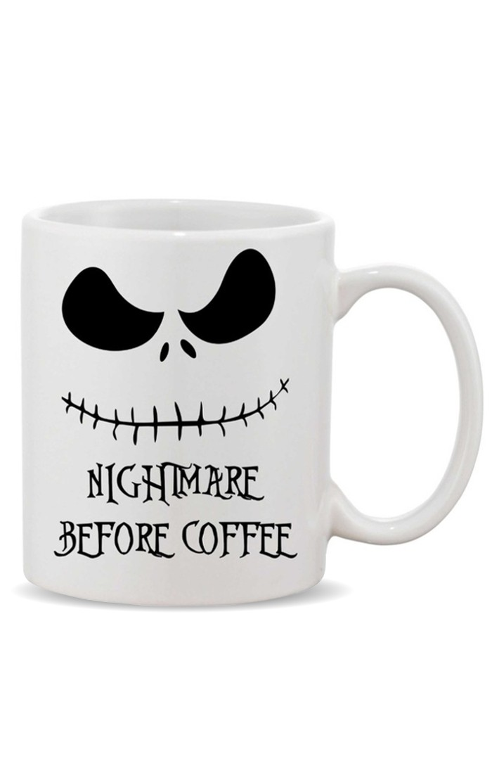 KRÉATIVE™ NIGHTMARE BEFORE COFFEE - CERAMIC COFFEE MUG