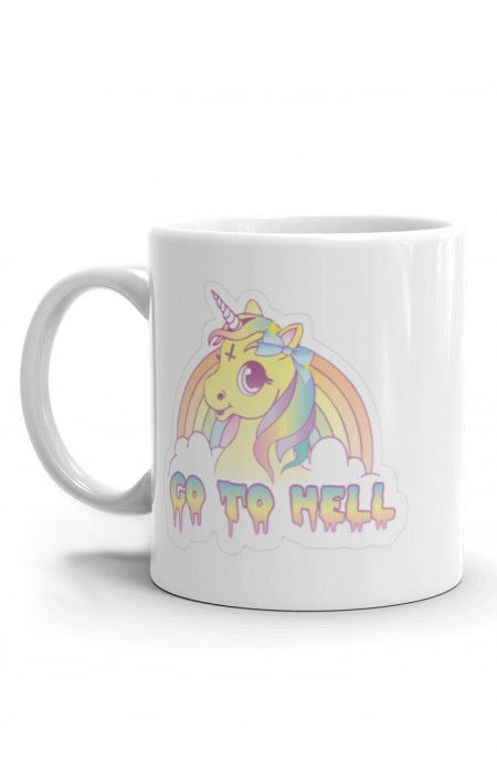 MUGS & CUPS™ GO TO HELL - CERAMIC COFFEE MUG