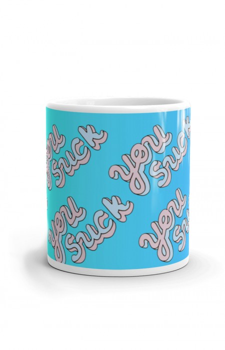 MUGS & CUPS™ YOU SUCK - TASSE À CAFÉ EN CÉRAMIQUE